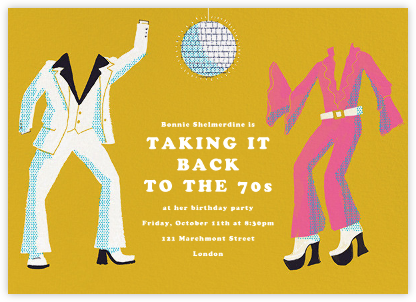 Disco Fever - Paperless Post - Birthday invitations
