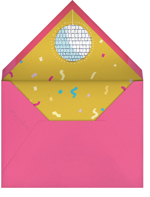 Disco Fever - Paperless Post - Adult birthday - envelope back