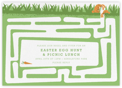 Hare and There - Paperless Post - Easter Invitations