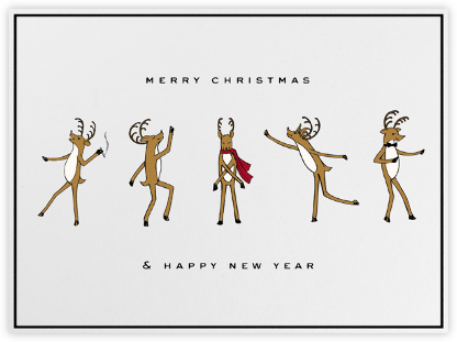 Reindeer Gala (Ivory) - Paperless Post - Christmas Cards