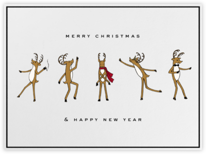 Reindeer Gala (Ivory) - Paperless Post - Holiday and Christmas