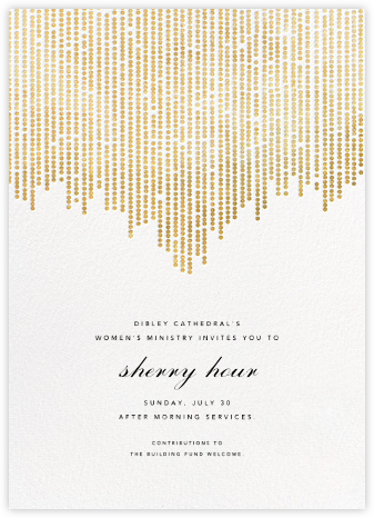 Josephine Baker - White/Gold - Paperless Post - Fundraiser Invitations