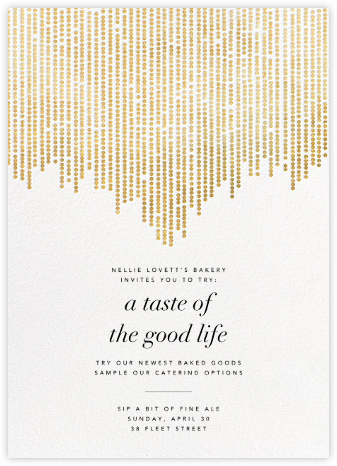 Josephine Baker - White/Gold - Paperless Post - Launch and event invitations