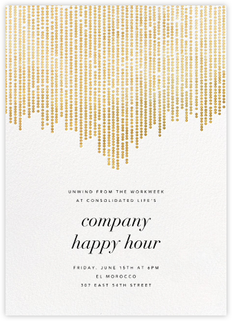 Josephine Baker - White/Gold - Paperless Post - Happy Hour Invitations