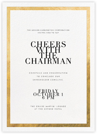 Editorial II - White/Gold - Paperless Post - Reception invitations