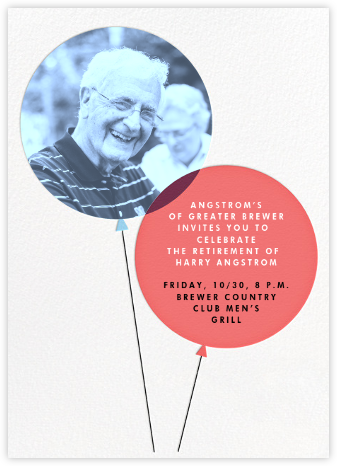 Balloon Pops - Paperless Post - Retirement Invitations