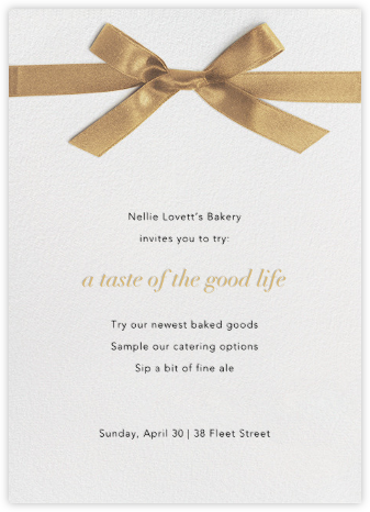 Avenue Montaigne - Gold - Paperless Post - Launch Party Invitations