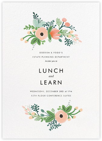 Wrapped in Wildflowers - Rifle Paper Co. - Dinner and luncheon