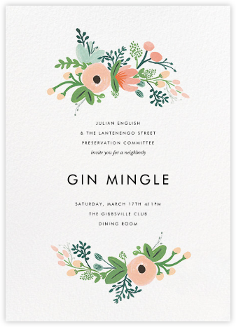 Wrapped in Wildflowers - Rifle Paper Co. - Business Party Invitations
