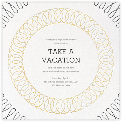 Spirals (Square) - Gold - Paperless Post - Business event invitations