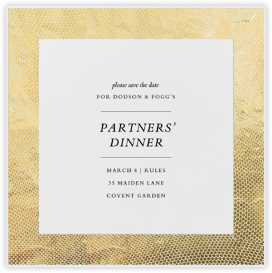 Snakeskin (Gold) - Paperless Post - Event save the dates
