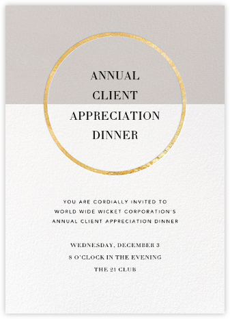 Burgoyne (Invitation) - Oyster/Gold - Paperless Post - Reception invitations