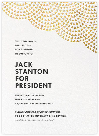 Savoy (Invitation) - Gold - Paperless Post - Business event invitations