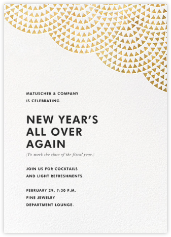Savoy (Invitation) - Gold - Paperless Post - Reception invitations