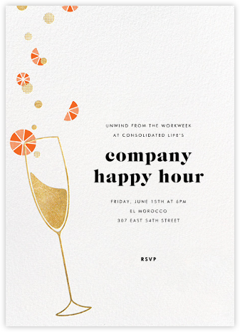 Citrus Fizz - Gold - Paperless Post - Happy Hour Invitations