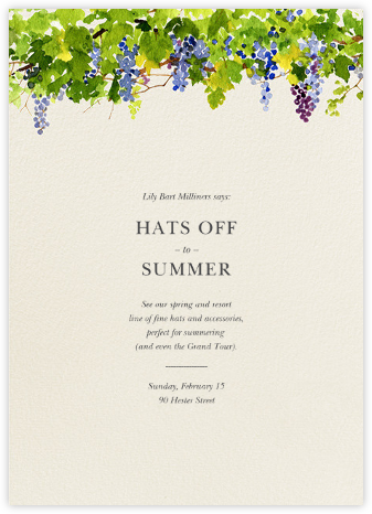 Napa - Felix Doolittle - Invitations for Entertaining