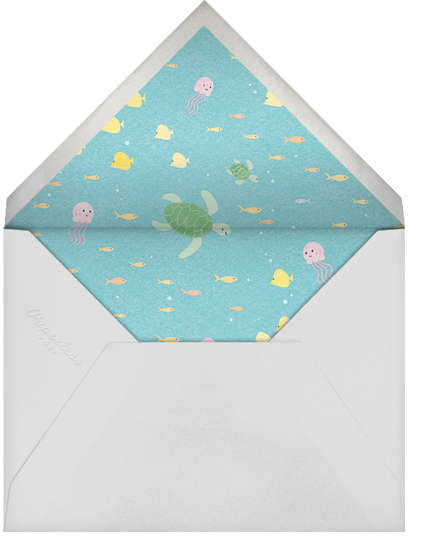 Sea of Love - Paperless Post - Beach party invitations - envelope back