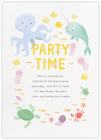 Sea of Love - Paperless Post - Kids' birthday invitations