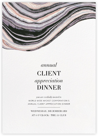 Marbleized (Vertical Invitation) - Kelly Wearstler - Professional party invitations and cards