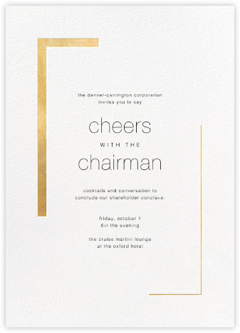 Ando (Invitation) - Gold - Paperless Post - Reception invitations