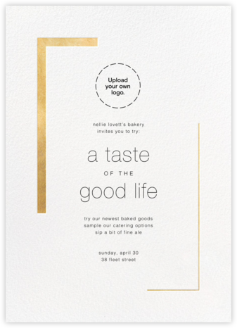 Ando (Invitation) - Gold - Paperless Post - Business Party Invitations