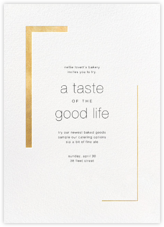 Ando (Invitation) - Gold - Paperless Post - Launch Party Invitations