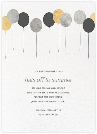 Balloons - Metallic - Paperless Post - Launch Party Invitations