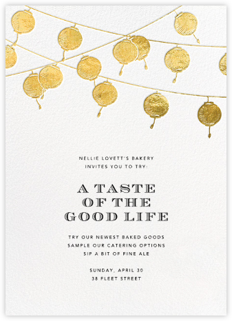 Lanterns - Gold - Paperless Post - Launch Party Invitations