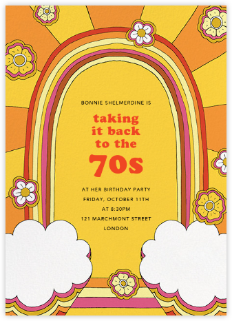 The Rainbow Connection - Paperless Post - Adult Birthday Invitations