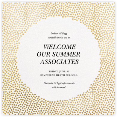 Konfetti - Gold - Kelly Wearstler - Happy Hour Invitations