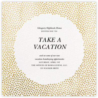 Konfetti - Gold - Kelly Wearstler - Business event invitations