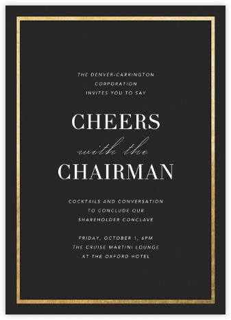 Idylle - Caviar/Gold - Paperless Post - Reception invitations