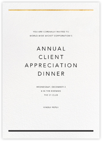 Aubette - Gold - Paperless Post - Reception invitations