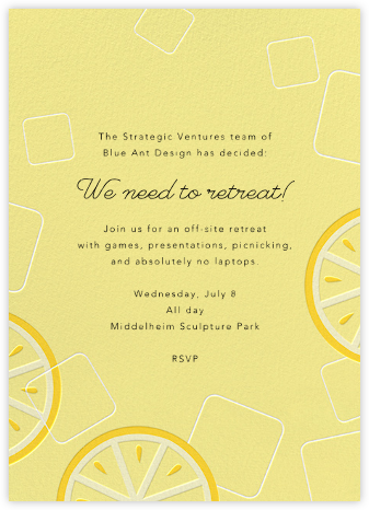 Lemonade - Paperless Post - Casual Party Invitations