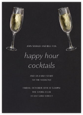 Champagne Glasses - Paperless Post - Happy Hour Invitations