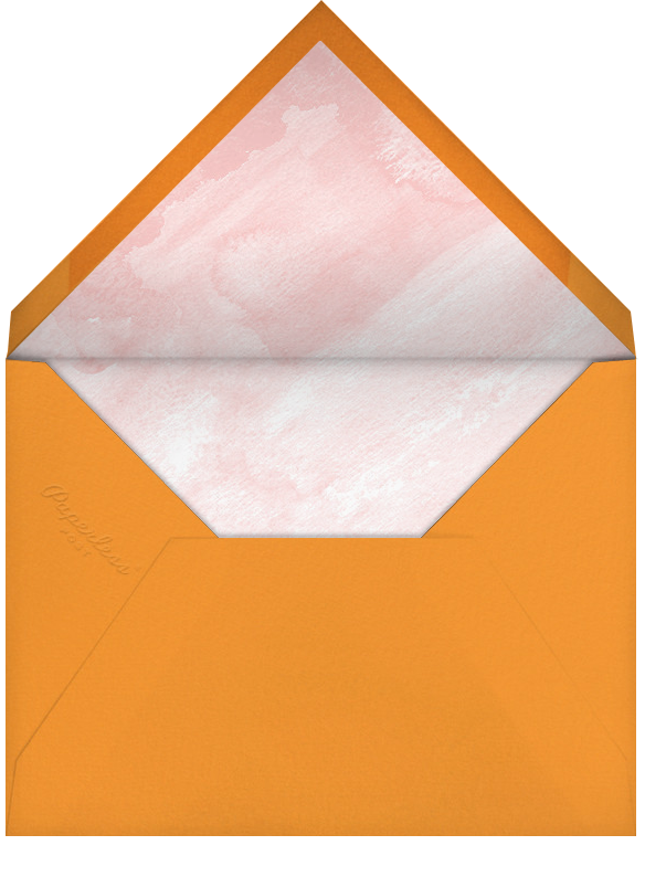Gradient Brush Strokes - Pink - Paperless Post - Casual entertaining - envelope back