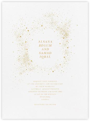 Pleiades (Invitation) - White - Paperless Post - Destination Wedding Invitations