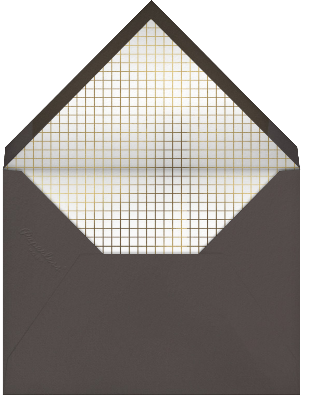 Honeycomb Party - Gold - Paperless Post - Dinner and luncheon - envelope back