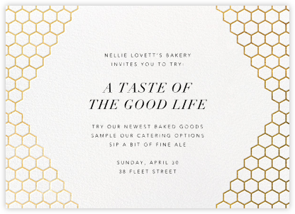 Honeycomb Party - Gold - Paperless Post - Launch Party Invitations