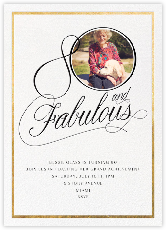 Curls Ahead (Eighty) - Paperless Post - Milestone Birthday Invitations