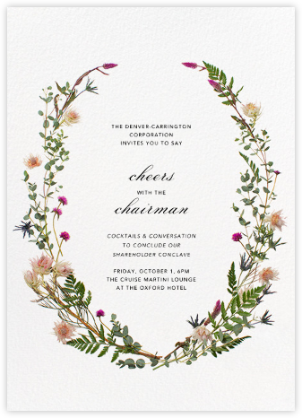 Fleurs Sauvages (Tall) - Paperless Post - Business event invitations