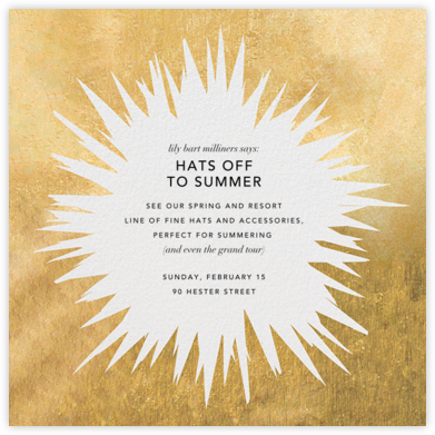 Exuberant - Gold - Kelly Wearstler - Event invitations
