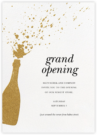 Champers - Gold - Paperless Post - Professional party invitations and cards