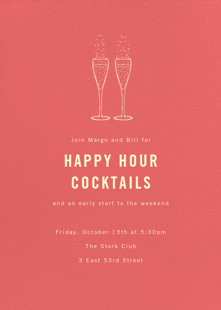 Happy hour invitations online at Paperless Post