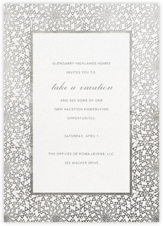 Deco Border - White - Paperless Post - Business event invitations