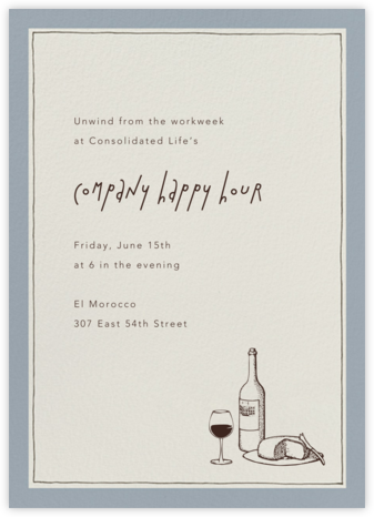 Drawn Seal Tall - Pacific - Paperless Post - Happy Hour Invitations