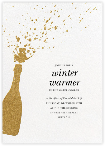 Champers - Gold - Paperless Post - Company holiday party
