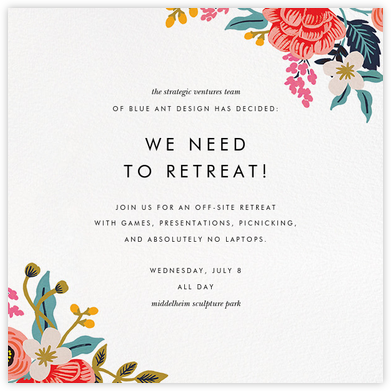 Birch Monarch Suite (Square) - Rifle Paper Co. - Casual Party Invitations