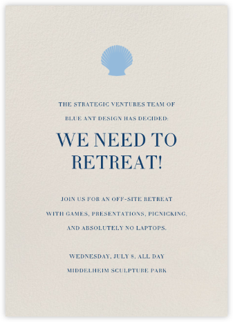 Cream (Tall) - Paperless Post - Casual Party Invitations