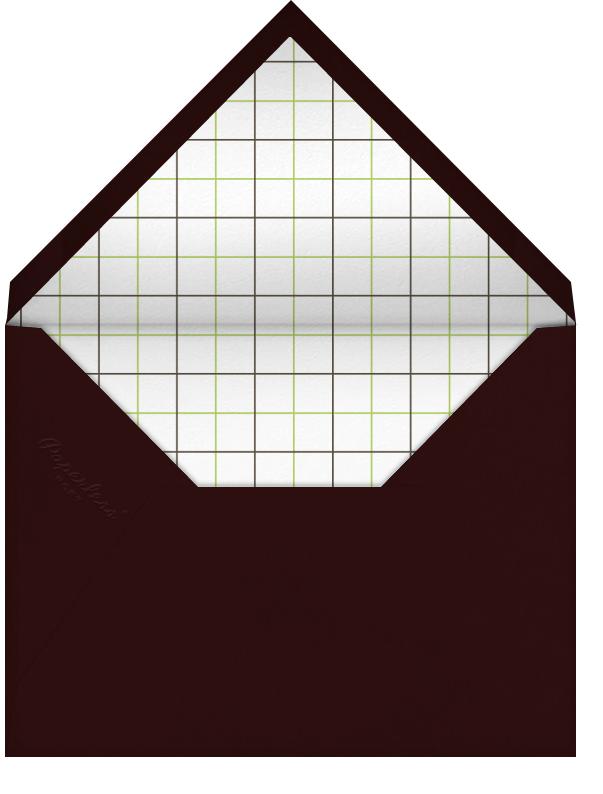 Wood Grain Light - Square (Foil) - Paperless Post - Casual entertaining - envelope back
